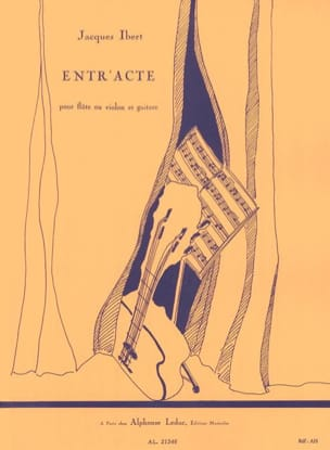 Jacques Ibert - Entr'acte - Flute (or violin) guitar - Sheet Music - di-arezzo.com