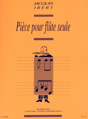 Jacques Ibert - Room for single flute - Sheet Music - di-arezzo.co.uk