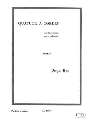 Jacques Ibert - Quatuor à cordes – Partitions + Parties - Partition - di-arezzo.fr