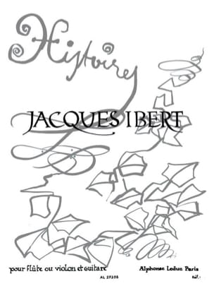 Ibert Jacques / Gebauer Karl-Heinz - Histoires - Flûte et Guitare - Partition - di-arezzo.fr