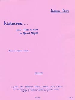 Jacques Ibert - In the Sad House Stories No. 5 - Piano Flute - Sheet Music - di-arezzo.com