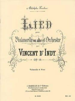 Indy Vincent D' - Lied op. 19 - Partition - di-arezzo.fr