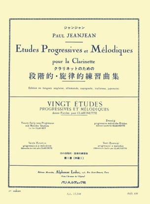 20 Etudes Progressives Volume 1 Paul Jeanjean Partition laflutedepan
