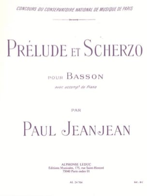 Paul Jeanjean - Prelude and Scherzo - Partition - di-arezzo.com