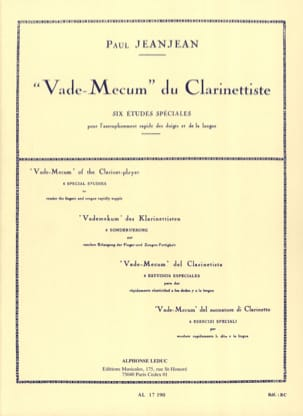 Paul Jeanjean - Vade Mecum of the Clarinetist - Sheet Music - di-arezzo.co.uk