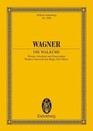 Watans Abschied und Feuerzauber WWV 86B WAGNER Partition laflutedepan