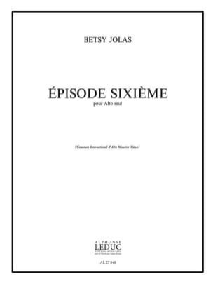 Episode sixième Betsy Jolas Partition Alto - laflutedepan