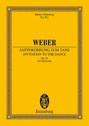 Aufforderung zum Tanz - Partitur Carl Maria von Weber laflutedepan
