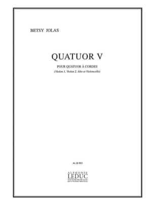 Betsy Jolas - Quartet # 5 - Conductor Parties - Sheet Music - di-arezzo.com