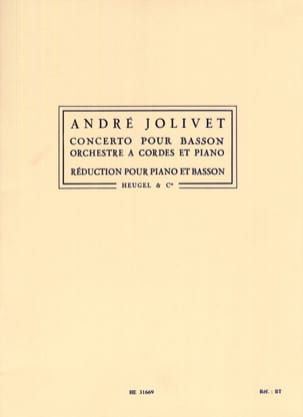 André Jolivet - Bassoon Concerto - Sheet Music - di-arezzo.co.uk