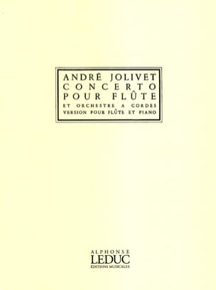 André Jolivet - Flute Concerto - Sheet Music - di-arezzo.co.uk