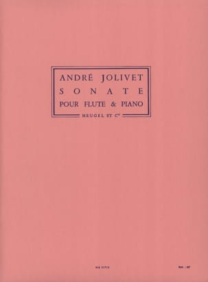 Sonate - Flûte piano André Jolivet Partition laflutedepan