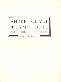 André Jolivet - Symphony No. 2 - Sheet Music - di-arezzo.co.uk