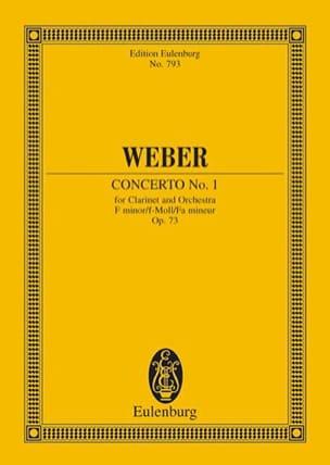 Carl Maria von Weber - Klarinetten-Konzert Nr. 1 f-moll - Sheet Music - di-arezzo.co.uk