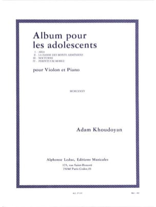 Album pour les adolescents Adam Khoudoyan Partition laflutedepan