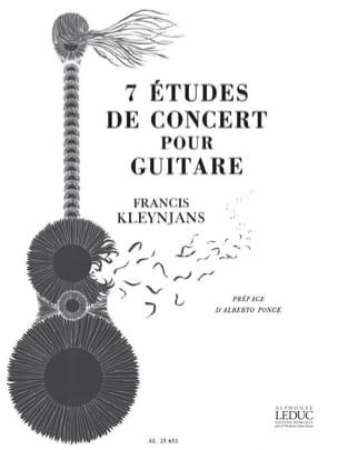 7 Etudes de concert Francis Kleynjans Partition Guitare - laflutedepan