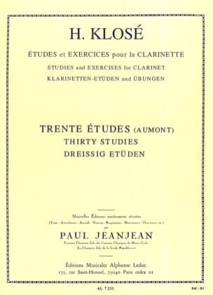 Hyacinthe Klosé - 30 Studies after Henry Aumont - Sheet Music - di-arezzo.com