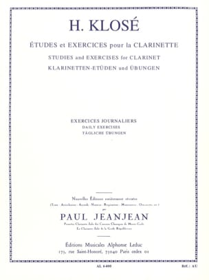 Hyacinthe Klosé - Daily exercises - Sheet Music - di-arezzo.com