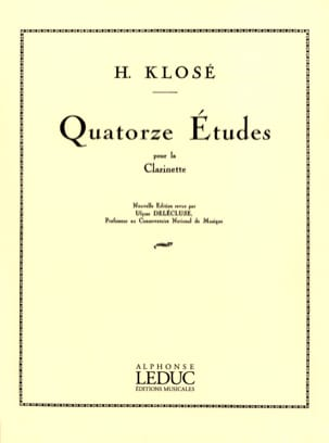 Hyacinthe Klosé - 14 Etudes - Clarinet - Sheet Music - di-arezzo.co.uk