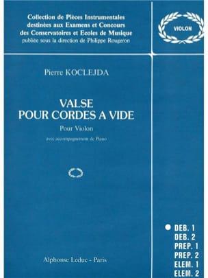 Valse pour cordes à vide Pierre Koclejda Partition laflutedepan