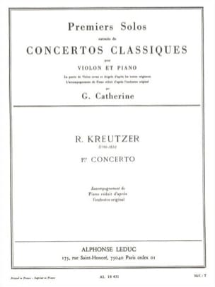 Kreutzer Rodolphe / Catherine Georges - 1st solo of the Concerto n ° 1 Catherine - Sheet Music - di-arezzo.com