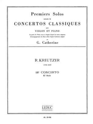 Kreutzer Rodolphe / Catherine Georges - 1st solo of the Concerto n ° 18 Catherine - Sheet Music - di-arezzo.com