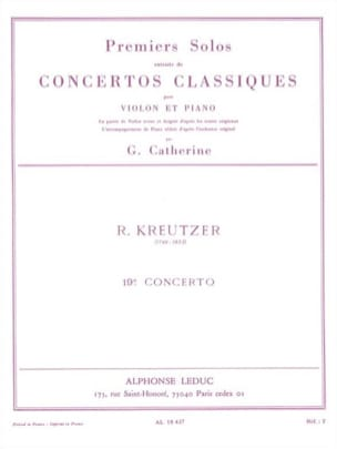 Kreutzer Rodolphe / Catherine Georges - 1st solo of Concerto n ° 19 Catherine - Sheet Music - di-arezzo.co.uk