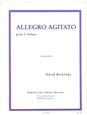 Allegro Agitato - David Krivitsky - Partition - laflutedepan.com