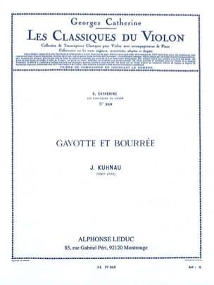 Kuhnau J. / Catherine Georges - Gavotte and bourrée - Sheet Music - di-arezzo.com
