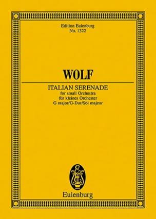 Hugo Wolf - Italienische Serenade G-Dur -Partitur - Partition - di-arezzo.fr