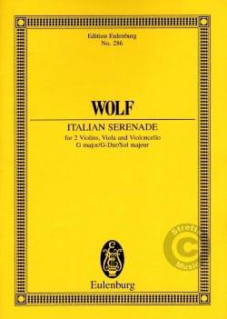 Hugo Wolf - Italienische Serenade G-Dur Streichquartett - Partitur - Partition - di-arezzo.fr