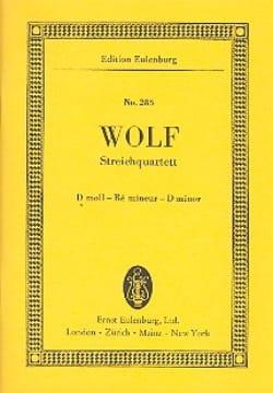 Hugo Wolf - Streich-Quartett D-Moll - Partition - di-arezzo.fr