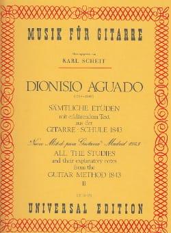 Dionisio Aguado - Sämtliche Etüden - Bd. 2 (aus Gitarre Schule) - Partition - di-arezzo.fr