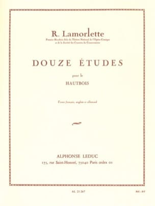Roland Lamorlette - 12 Studies - Sheet Music - di-arezzo.co.uk