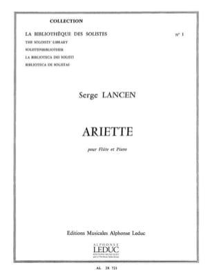 Ariette - Flûte et Piano Serge Lancen Partition laflutedepan