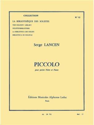 Serge Lancen - Piccolo - Partition - di-arezzo.fr