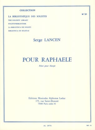 Serge Lancen - For Raphaele - Sheet Music - di-arezzo.com