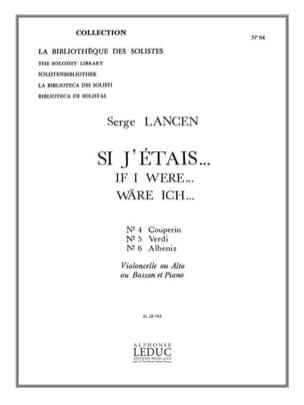 Serge Lancen - Si J'étais ... N° 4, 5, 6 - Violoncelle - Partition - di-arezzo.fr