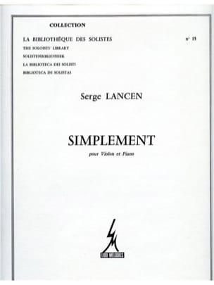 Simplement Serge Lancen Partition Violon - laflutedepan
