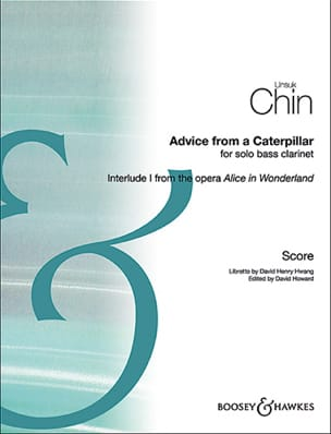 Unsuk Chin - Advice from a caterpillar, for solo bass clarinet - Sheet Music - di-arezzo.co.uk