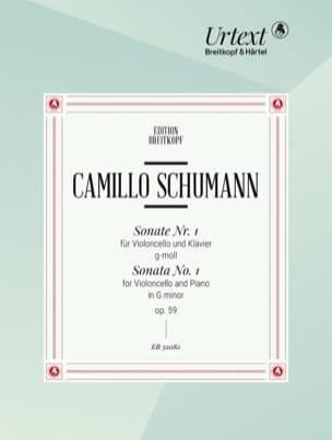 Sonate N°1 Opus 59 en Sol mineur - Edition Urtext - laflutedepan.com
