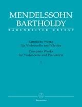 Complete Works for Violoncello and Pianoforte - Volume 1 (Edition Urtext) - laflutedepan.com