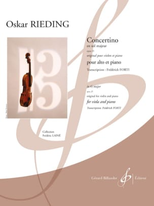 Oscar Rieding - Concertino, Opus 25 - Viola and Piano - Sheet Music - di-arezzo.co.uk