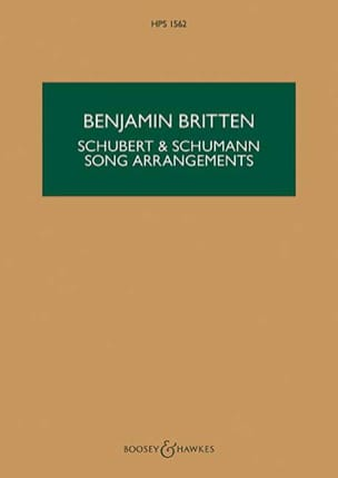 Benjamin Britten - Schubert & Schumann Song Arrangements - Partition - di-arezzo.fr