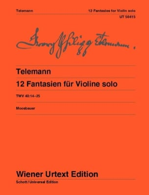 TELEMANN - 12 Fantasy for solo violin - Sheet Music - di-arezzo.co.uk