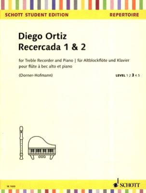 Recercada 1 & 2 - Diego Ortiz - Partition - laflutedepan.com