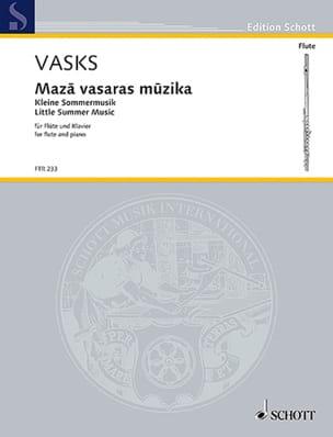 Peteris Vasks - Maza vasaras Muzika - Partition - di-arezzo.fr