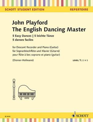 John Playford - The English Dancing Master - 5 Easy Dances - Partition - di-arezzo.fr