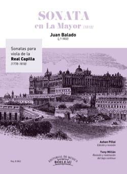 Sonate en La Majeur 1818 - Juan Balado - Partition - laflutedepan.com