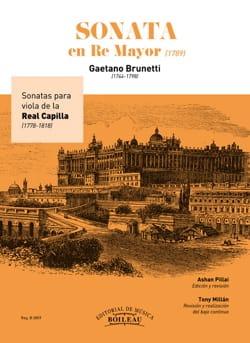 Gaetano Brunetti - Sonate en Ré Majeur (1789) - Partition - di-arezzo.fr